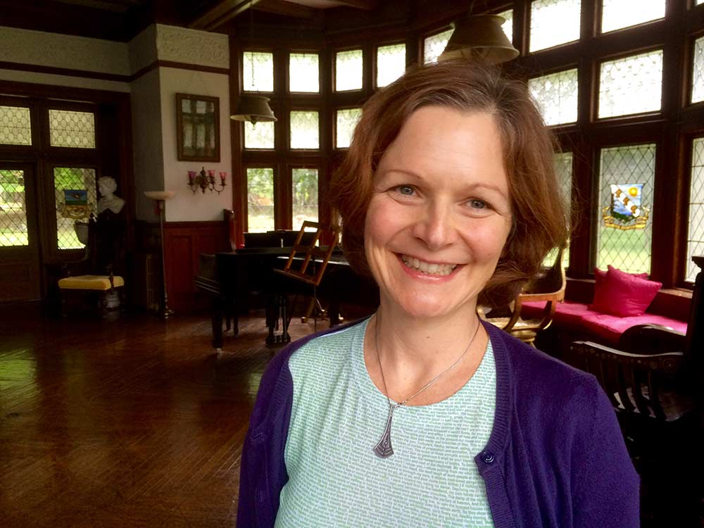 Laurie at Yaddo Artists Colony for a Writer's Residency